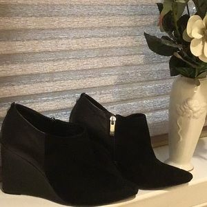 Vince Camuto Leather/ Suede Wedge Bootie